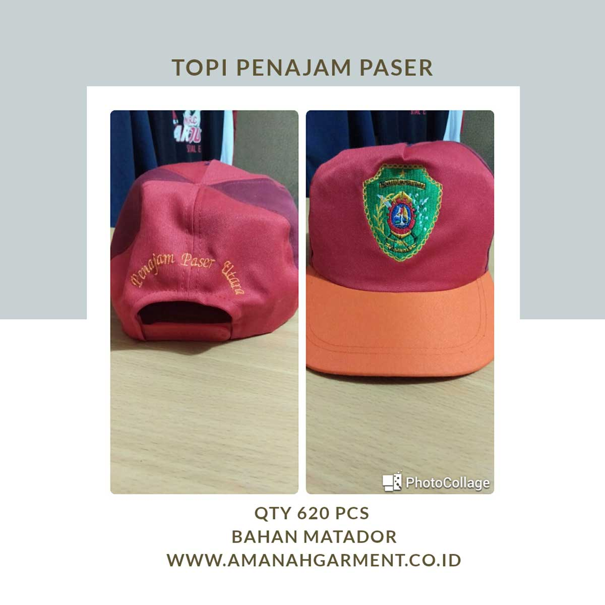 cetak topi